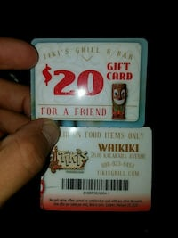 $20 Tikis Grill & Bar Gift Card for $10