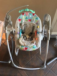 baby's gray and green portable swing Bulverde, 78163