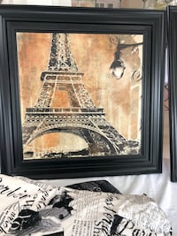black wooden framed painting of Eiffel Tower Warrenton, 20186