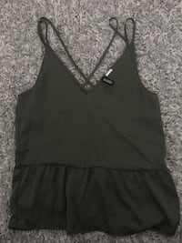 Khaki top sleeveless H&M Oslo, 0183