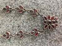 Garnet and Silver Necklace Waltham, 02451