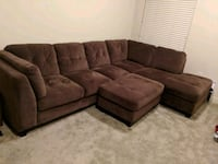 Like new brown suede sectional couch!  South Jordan, 84095