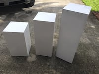 Set 3 white column pedestals home decor  Davie, 33324