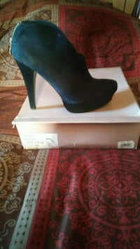 pair of black suede platform stilettos Baltimore, 21229