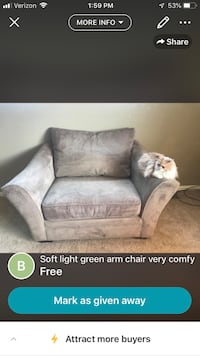 Green chair comfy moving need to sell Thornton