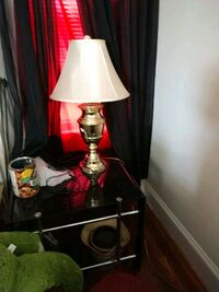 red and white table lamp Newton, 28658