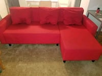 red fabric sectional sofa with ottoman Toronto, M2J 1R3