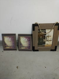 3 picture frames, never used