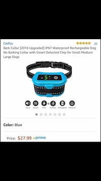 Rechargeable Bark Collar. Never used.  Knoxville, 37918
