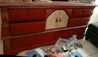 8 drawer wood dresser
