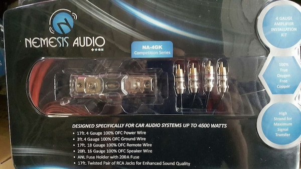 Used Nemesis Audio 4 Gauge Competition Amp Wiring Ampli For Sale In