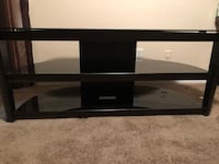 Black wooden and glass tv stand with mount Coconut Creek, 33063