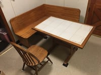 Kitchen table and solid wood bench with 2 chairs Halethorpe, 21227
