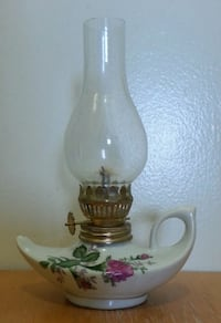 Floral Ceramic Finger Aladdin Oil Lamp