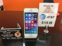 AT&T / Cricket iphone 5S 16gb Temple Terrace, 33617