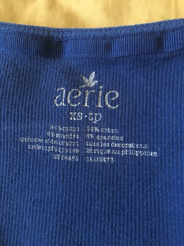 XS Aerie Ribbed Tank Top Navy Blue 79cb889e-8fdc-4154-8be4-96907a3f4a97