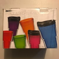 6 piece insulated Tumbler system