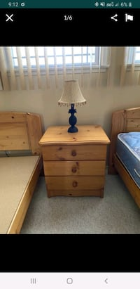 Twin bed combo with night stand