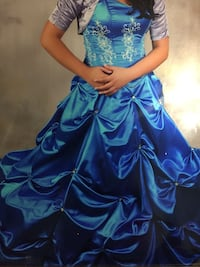 Size 8 Aqua Quincenera dress McAllen