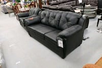 Canadian made real leather sofa loveseat on sale  Toronto, M9W 1P6
