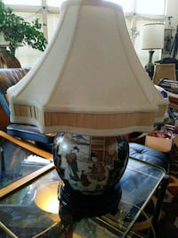 white and brown floral table lamp Bremerton, 98312