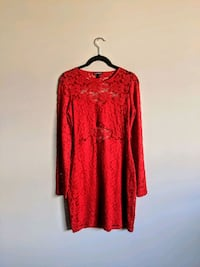 Express Red Lacey Dress