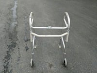 gray and white walking frame