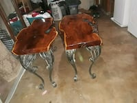 two brown wooden side tables San Antonio, 78242