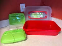 3 plastic food boxes Hoover