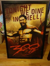 300 tonight we dine in hell 24 by 36 inch framed Dundalk, 21222