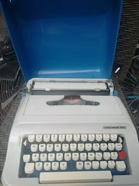 white and black Olympia typewriter Vancouver