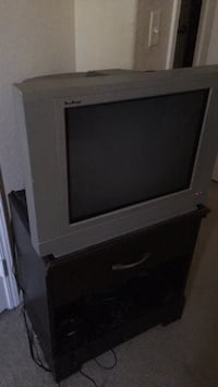 gray CRT TV with remote Menifee, 92584