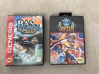 2 Sega Genesis Games with Cases - Bass Masters Classic and World Trophy Soccer Vaughan, L4L 4J5