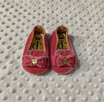 Juicy Couture Baby - Velvet Slip on with Bow & Gold Accents
