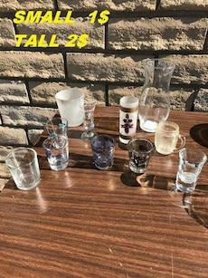 clear drinking glass lot