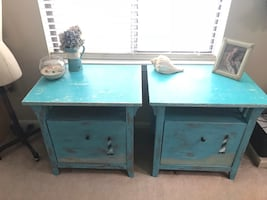Painted coastal chic Matching set of nightstand