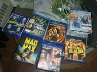 assorted new DVDs & blurays
