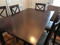 Dining Room Expandable Leaf Table Set Six Chairs Centreville
