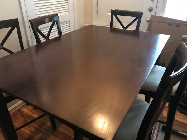 Dining Room Expandable Leaf Table Set Six Chairs