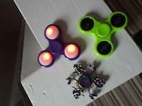 3x Assorted Fidget Spinners, includes flashing one Brighouse