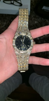 Gold iced out watch Calgary, T3J 3M4