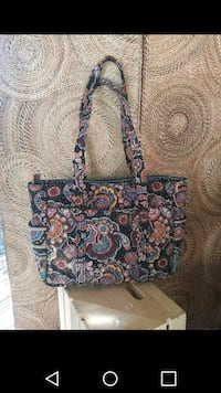 brown and blue floral tote bag Jacksonville, 32202