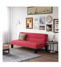 KEBO Futon Couch with Microfiber Cover (Color Red) Houston, 77092