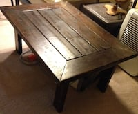 Table – rustic wood / coffee or side POWELL