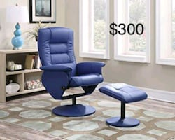 New Modern Chair with ottoman only $50 down