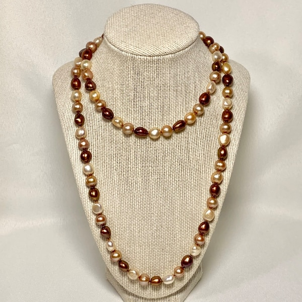 Genuine Chocolate Baroque Pearl Necklace 63ed3f5c-3d41-4979-81d8-7c88262ff544