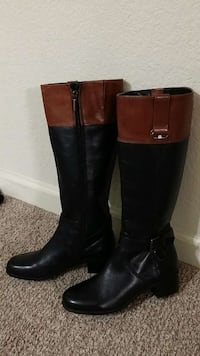 Brand new Bandolino Leather boots size 6M reg.$149