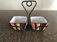 Simple additions by pampered chef double bowl condiment holder Quincy, 02169