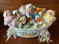 Basket of Official Porcelain DISNEY Babies and Figurines - 12 in Total Aurora, L4G 3K4