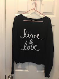 Women's (XXL) - Live & Love Black/White Sweater